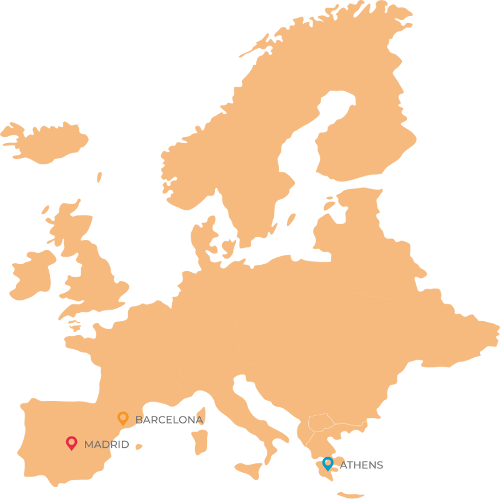 About-events offices-europe-map